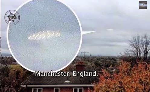 Estranho UFO sobre a Cidade de Manchester INGLATERRA