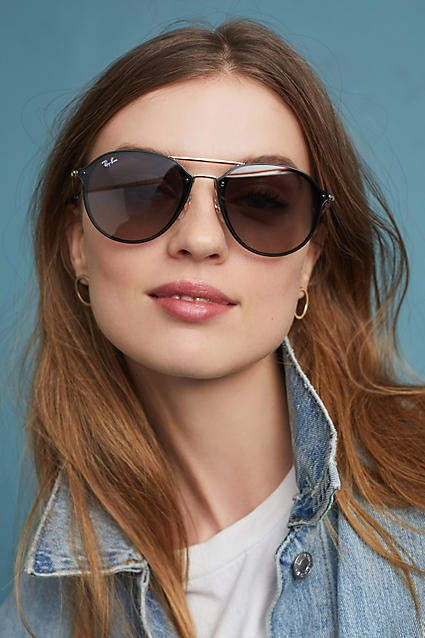 c3d6addbcde Ray-Ban Blaze Double Bridge  Sunglasses  rayban  Anthropologie  ad ...