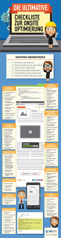 Infografik Onsite Optimierung Checkliste by HEWO