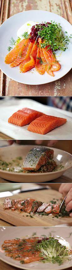 Маринованный лосось от Джейми - супер быстро!   Рецепты Джейми Оливера