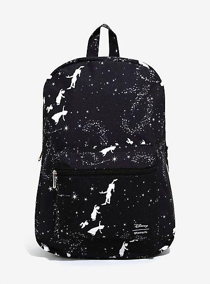 Loungefly Disney Peter Pan Black   White BackpackLoungefly Disney Peter Pan  Black   White Backpack