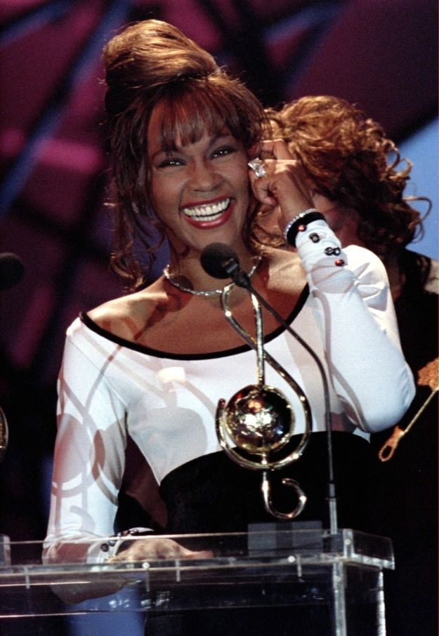 Image result for whitney houston 1989 american music awards gif