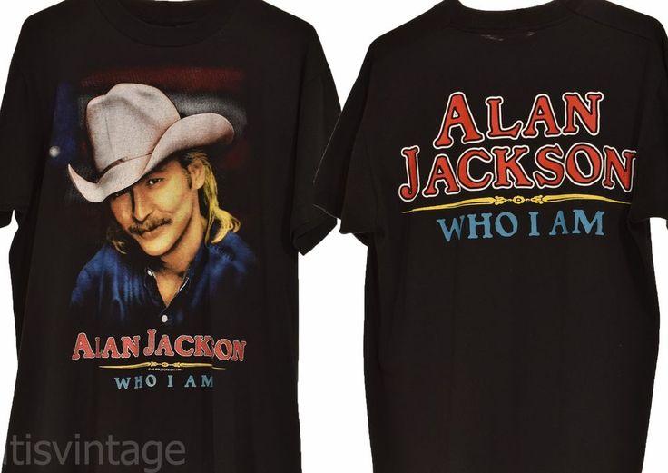 Vintage 1994 Alan Jackson Who I Am Fruit Loom Best Concert Tour T Shirt Large L | Clothing, Shoes & Accessories, Men's Clothing, T-Shirts | eBay!