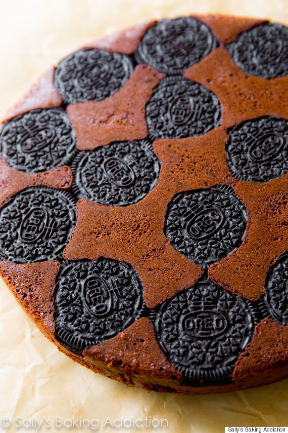 Oreo upside-down cake recipe. Where has this dessert been all our lives?