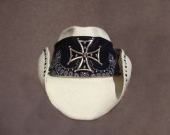 Handmade Custom Cowboy Hat with Skull and Crossbones by teamdiva
