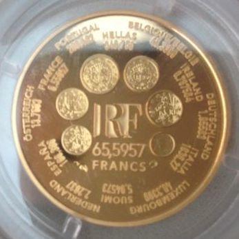 Catawiki online auction house: France - 65,5957 Francs 2000 'Europa' - ¼ oz Gold
