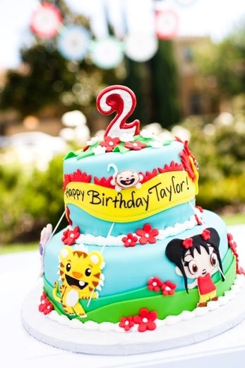 "Photo 2 of 23: Ni Hao Kai Lan - Red & Aqua Birthday Party / Birthday ""Taylor Turns Two - Ni Hao Kai Lan Birthday Party""   Catch My Party"