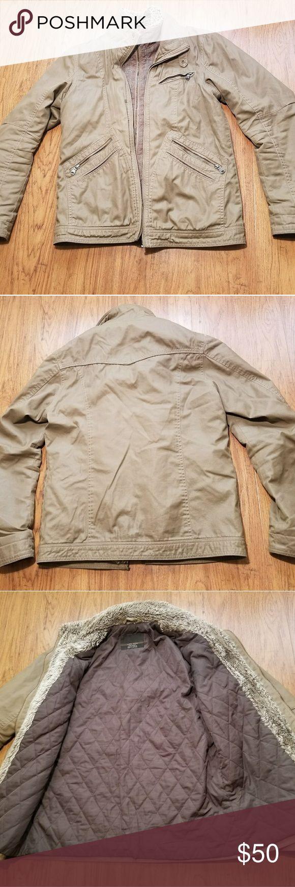 Zara Man Zip Up Jacket Size: Mens Small Color: Tan Price: $49.99 Free Shipping Zara Man Jackets & Coats