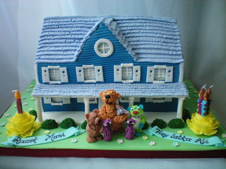 Bear Inthe Big Blue House Birthday Cake
