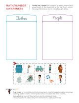 Advanced sorting activity that challenges children to properly sort pictures into two different groups.