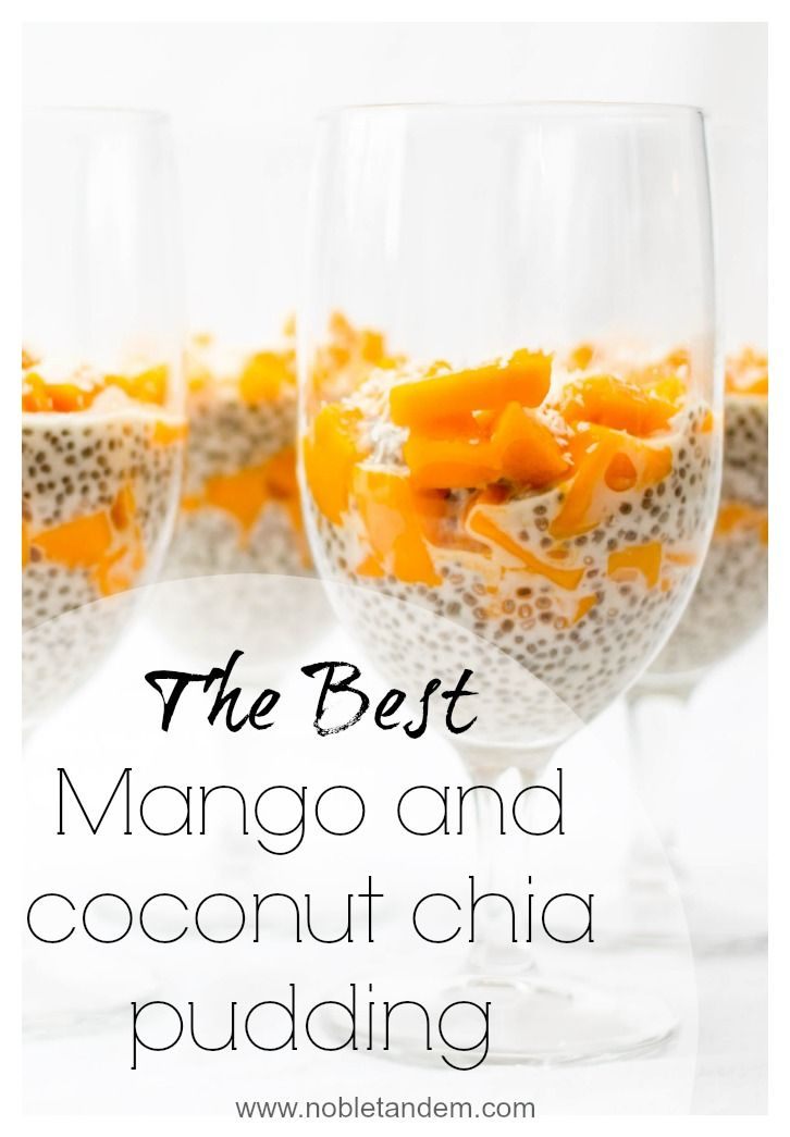 A healthy recipe that reminds me of the tropics. A fresh recipe that you can eat all year long. A great dessert, snack, or even breakfast, this chia seed pudding is bursting with nutrients and flavor. Find the recipe here: http://www.nobletandem.com/recipe/mango-and-coconut-chia-pudding/