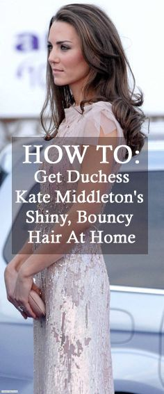 Here's how to style your hair like Kate Middleton // YouthfulHabits.com