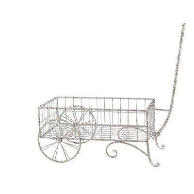 Cole & Grey Modern Iron 2-Wheel Pull Wheelbarrow Planter