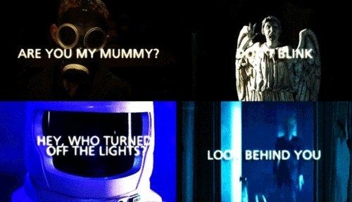 Doctor Who Challenge day 12: Scariest episode: Can't pick just one...The Empty Child, Blink, Silence in the Library, Day of the Moon. All terrifying!