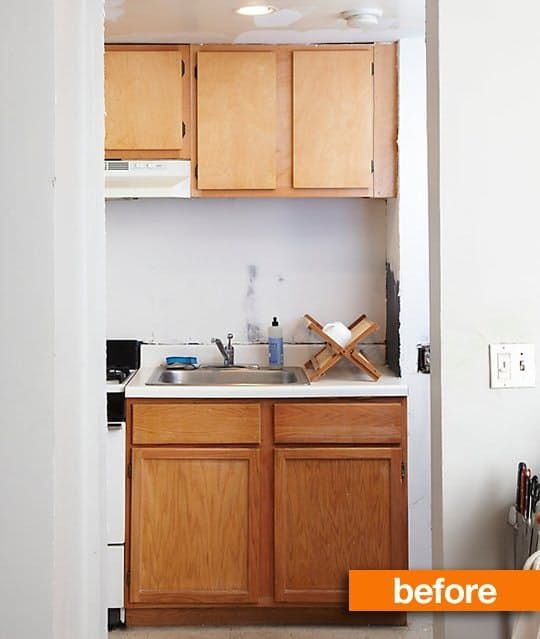 A standard, drab Apartment kitchen gets a Danish inspired makeover with no demolition and on a very small budget.