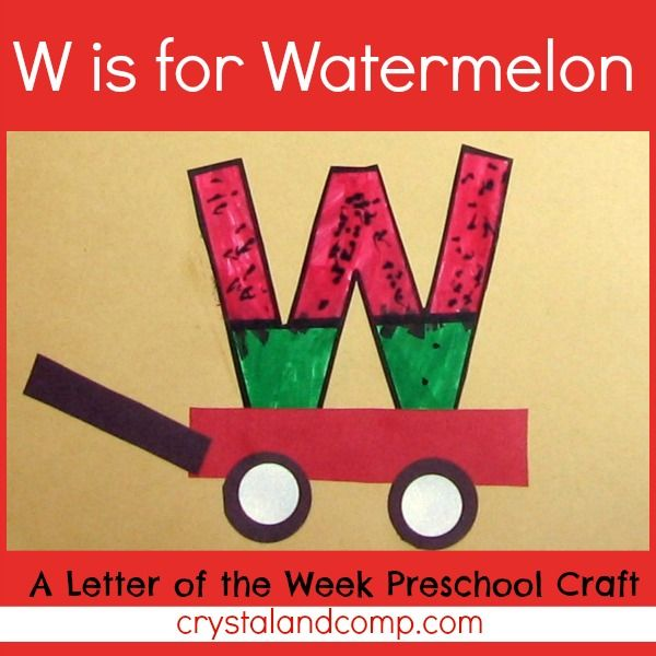 Letter W For Wagon Template