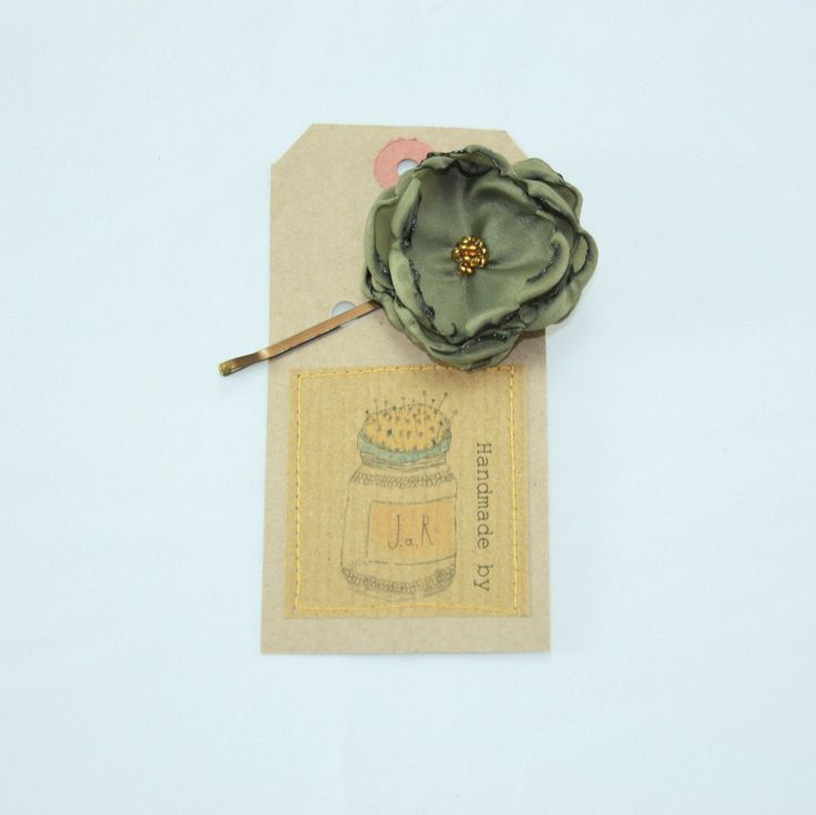 Silk flower hair slide