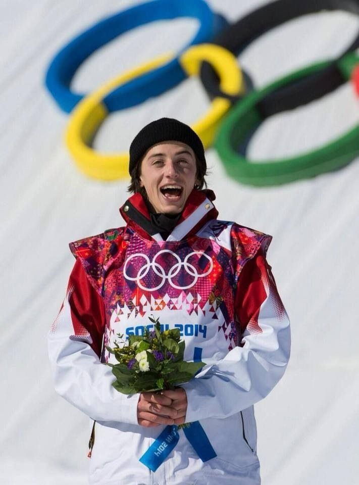 Mark McMorris, one proud Canadian athlete ! Taking the bronze medal in men's slope style Sochi 2014 !