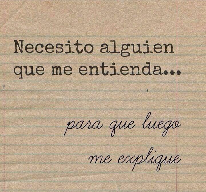 Necesito, frases, español, amor, vida