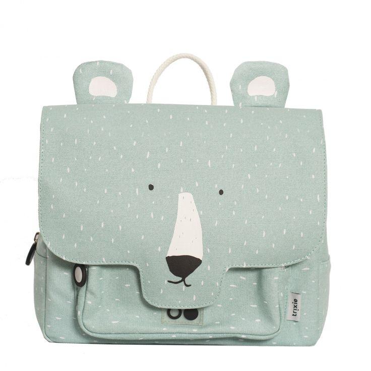 Schultasche Mr. Polar Bear von #Trixie mit einer süßen Eisbärzeichnung #rucksack #schulranzen #schultasche