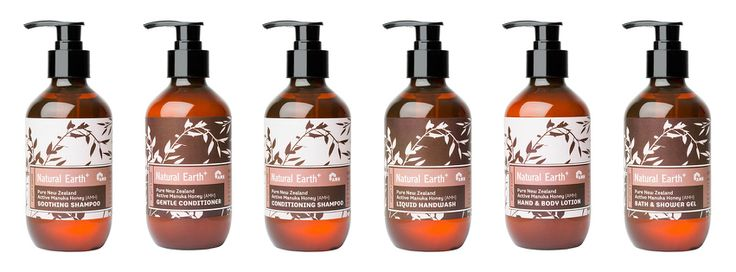 Natural Earth Manuka Honey Hair and Body Care. Made in New Zealand with Active Manuka Honey (AMH) http://www.themotelshop.co.nz/collections/natural-earth-active-manuka-honey-hair-body-care