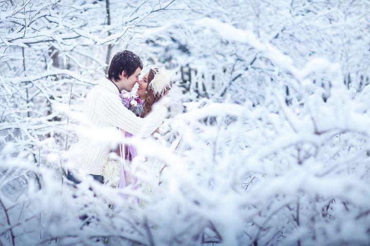 Снежная нежность: свадьба Ники и Вити