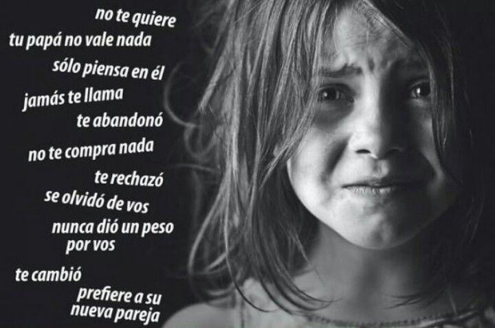 Jamas le digas esto a tu hijo a causa de su mal padre.