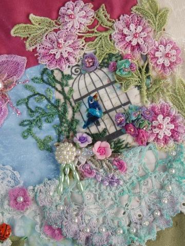 One of my favorites - Crazy Quilt - created by Barbara Nicki Lee Seavey - Raviolee Dreams