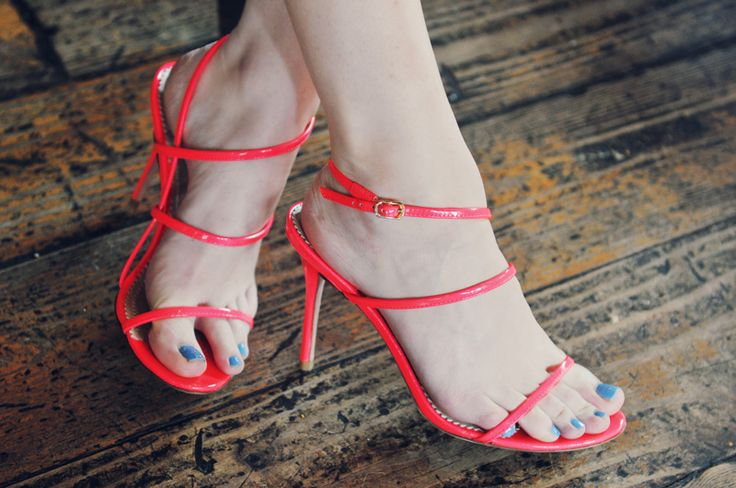 Jean-Michel Cazabat #heels #strappy #slingbacks #shoes: Skinny Shoes, Strappy Sandals, Sea Of Shoes, Michele Jeans Cazabat, Sandals Heels, Heels Strappy, Neon Shoes, Neon Skinny, Neon Strappy