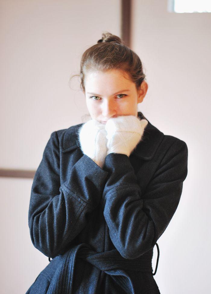 Rękawiczki ze swetra - Joulenka