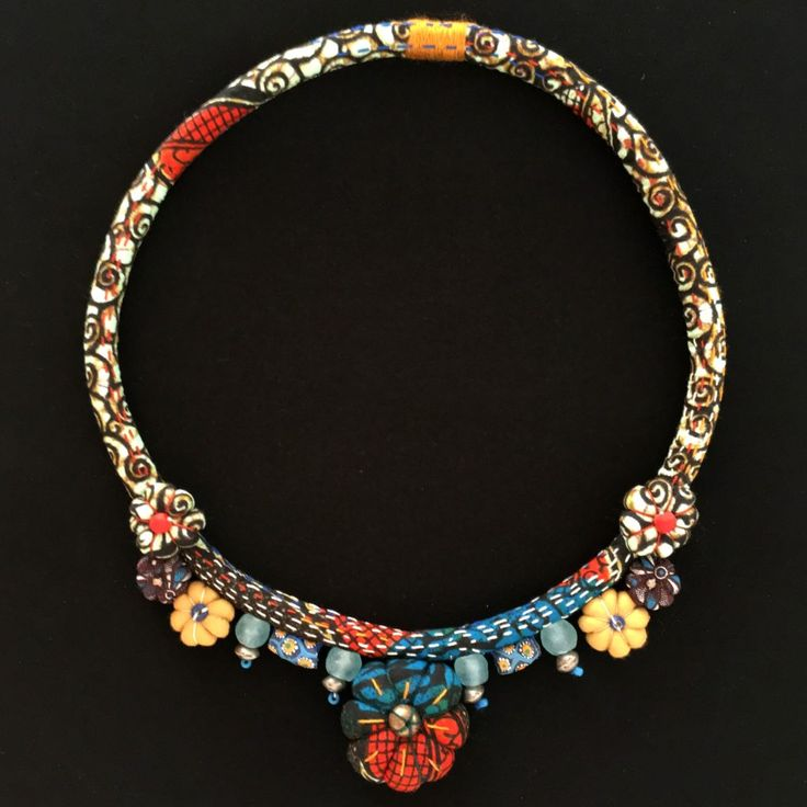 Contemporary African handcrafted textile jewellery