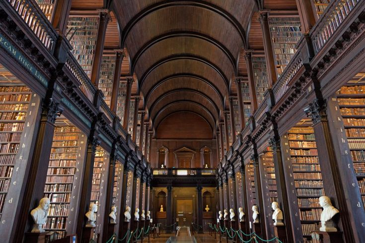 Trinity College Dublin Library in Dublin, Ireland