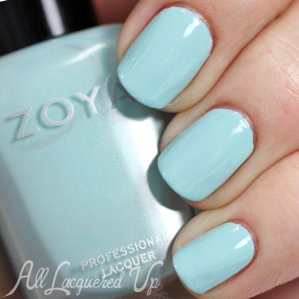 Zoya Spring 2015 Delight Collection Swatches and Review. Zoya Lillian is a blue power pastel. It has an aqua feel with a hint of green in its base. It is very similar to Chanel Riva, without the shimmer.