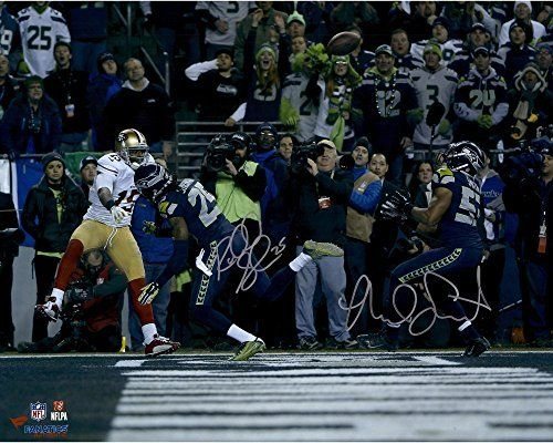 "Richard Sherman Malcolm Smith Seattle Seahawks Autographed 16"" x 20"" 2013 NFC Championship Game Photograph - Fanatics Authentic Certified"
