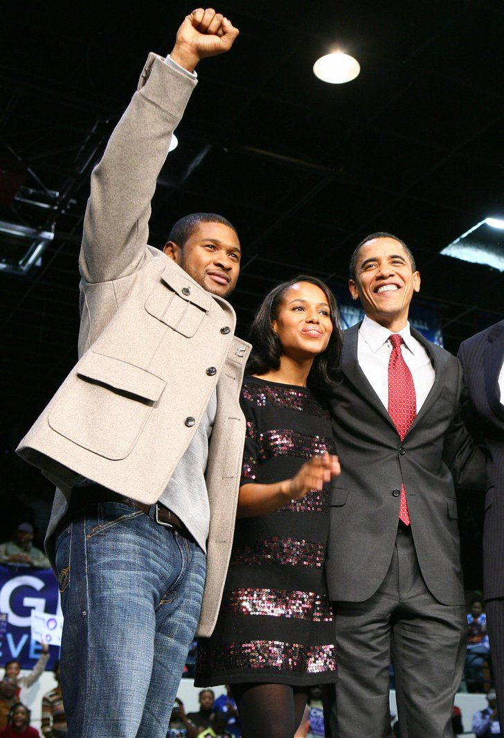 Pin for Later: Kerry Washington Is Everyone's Best Friend She Gets Between Barack Obama and Usher