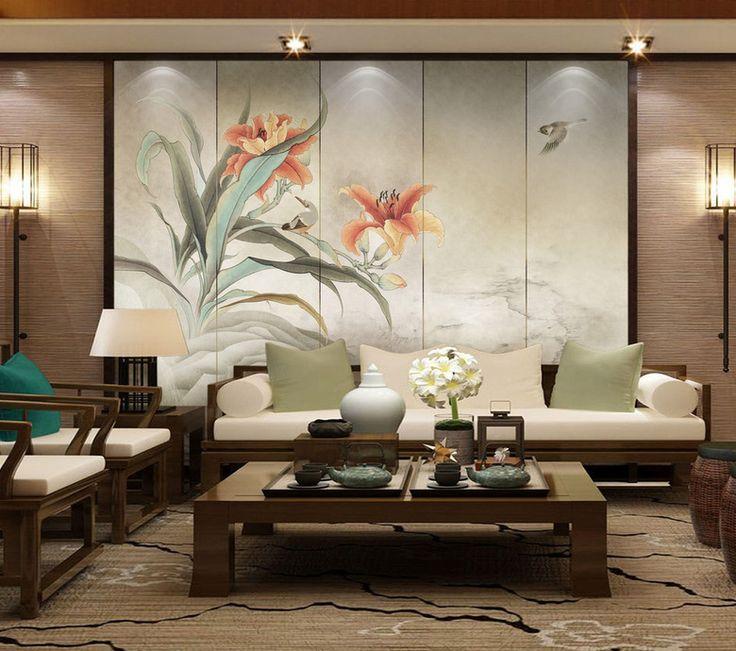 les 7 meilleures images du tableau d cor japonais tapisserie murale en textile en un seul. Black Bedroom Furniture Sets. Home Design Ideas
