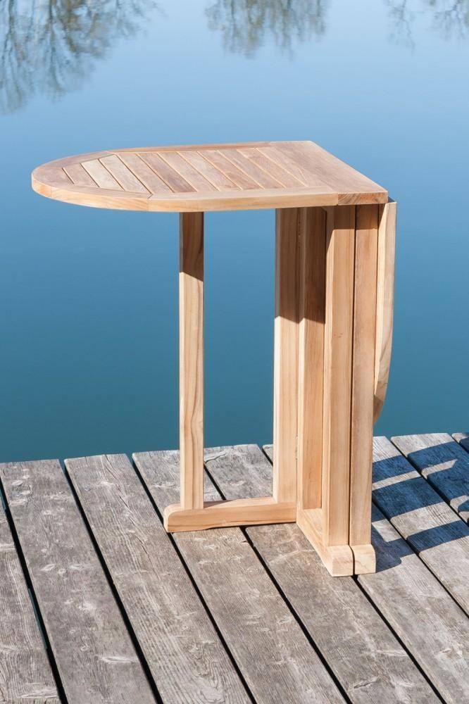 Balkontisch Klapptisch Gartentisch Aus Teak 120 X 65 Cm