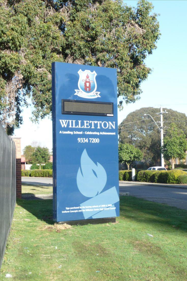 Willeton Senior High School #CSI #CorporateSignIndustries #200 #series #custom #Design #signage #LED school #recognition #identity #sign