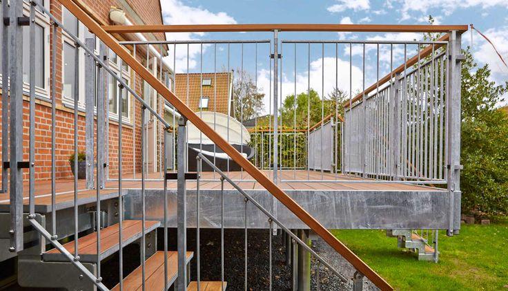 Dolle Terrasse  - terrasse til huse med høj kælder eller skrående grund.