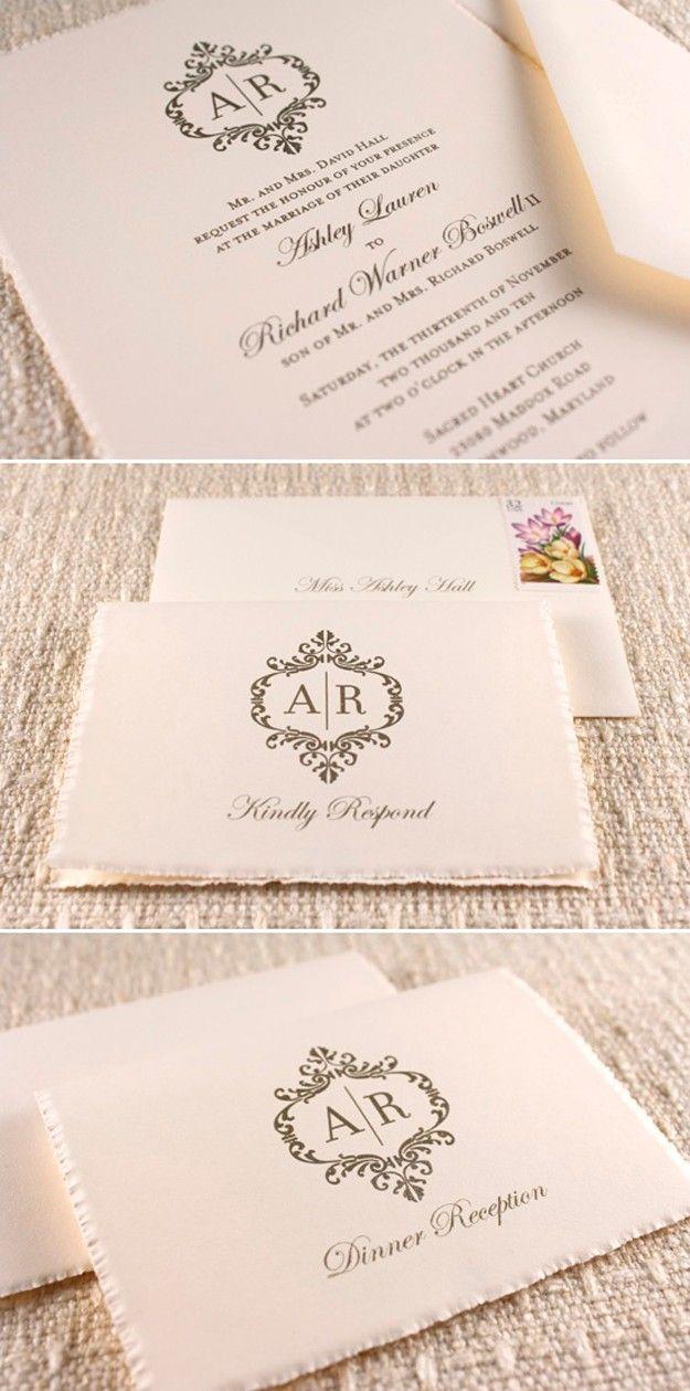 ► Invitaciones de boda. Clásica con un toque diferente. #invitaciones #bodas