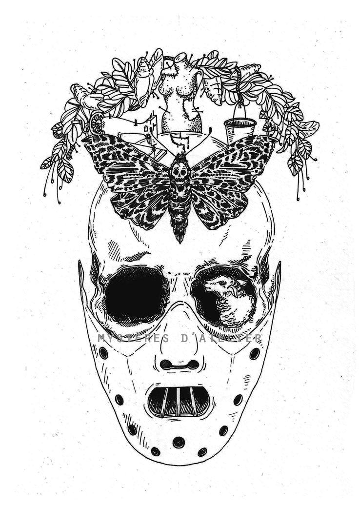 Dessin Hannibal Lecter/ Le silence des agneaux. Drawing