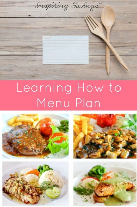 Menu Planning for Beginners. We all know that menu planning saves time and money, but no one ever really teaches you how to plan a menu. Learn here
