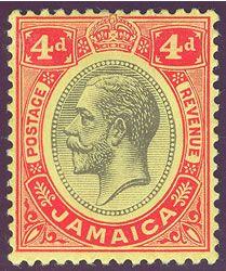 Jamaica King George V Keyplate Issues