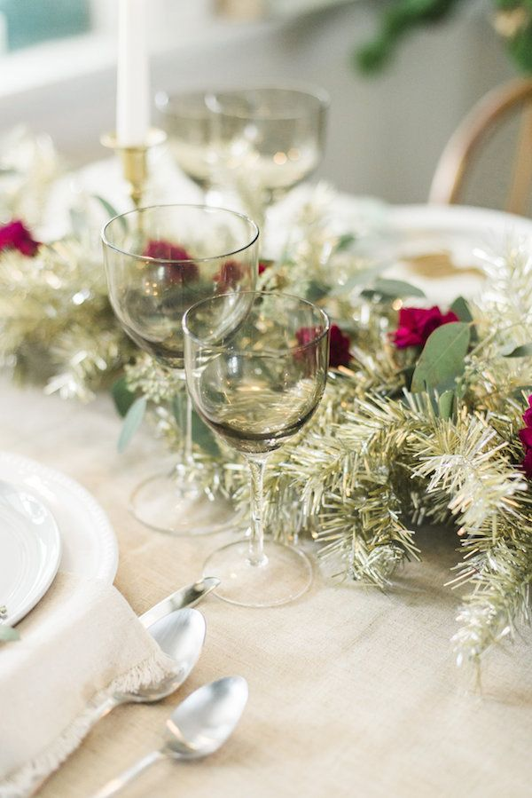 A Metallic Holiday Table