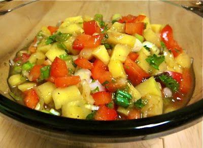 Невыразимая легкость кулинарного бытия...: Сальса из манго и сладкого перца