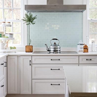 Fine White Kitchen Cabinets Black Handles Photos Modern Style
