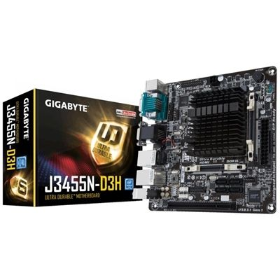 Scheda Madre con CPU Integrata Gigabyte GA-J3455N-D3H Mini-ITX Intel® Quad-Core Celeron® J345  99,92 € S0209202Scheda Madre con CPU Integrata Gigabyte GA-J3455N-D3H Mini-ITX Intel® Quad-Core Celeron® J345