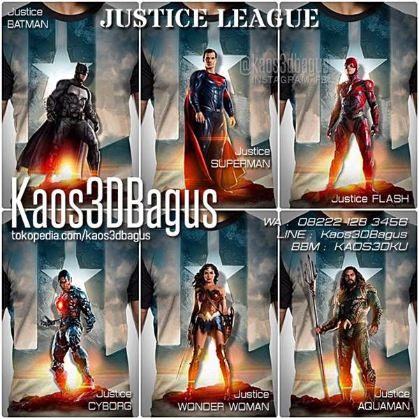 KAOS JUSTICE LEAGUE, Kaos SUPERHERO, Kaos FILM JUSTICE LEAGUE, Kaos SUPERMAN, Kaos BATMAN, Kaos THE FLASH, CYBORG, AQUAMAN, WA : 08222 128 3456, LINE : Kaos3DBagus, https://kaos3dbagus.wordpress.com/2017/11/18/kaos-justice-league-kaos-film-justice-league-kaos-superhero/