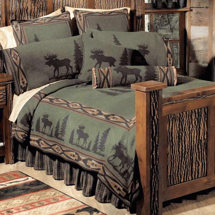 Check Out Black Forest Decor Today To See Our High Quality Ortment Of Luxury Cabin Bedding For Example This Moose I Basic Bed Sets