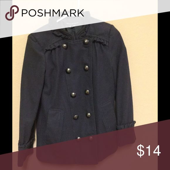 French Connection Coat French Connection indigo coat with button down either side French Connection Jackets & Coats
